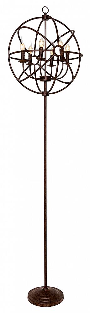 Торшер Юбер, OM-FL01  Придайте своему интерьеру новый вид с помощью  торшера «Юбер». Украшенный абажуром из  металлических прутьев, соединенных между  собой в форме сферы, торшер возвышается  на грациозном металлическом штативе. Внутри  металлической сферы — 6 осветительных ламп  в форме свечи. Напольная лампа «Юбер» придаст  современному декору авторский почерк и  подойдет как для гостиной, так и для офиса.