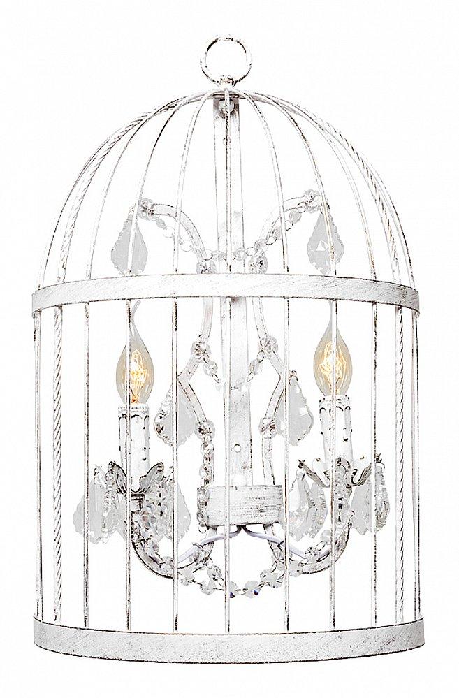 Настенный светильник Тюильри (белый антик),  OM-WL02  Белая версия настенного светильника «Тюильри»  подарит Вашей спальне нотки женственности.  Металлическая модель белого цвета с искусным  эффектом старины состоит из двух ламп с  подвесными хрустальными подвесками. Тандем  из двух светильников уместен для каждой  из двух сторон широкой «королевской» кровати.  Коллекция «Тюильри» предлагает также похожий  светильник в черном цвете.