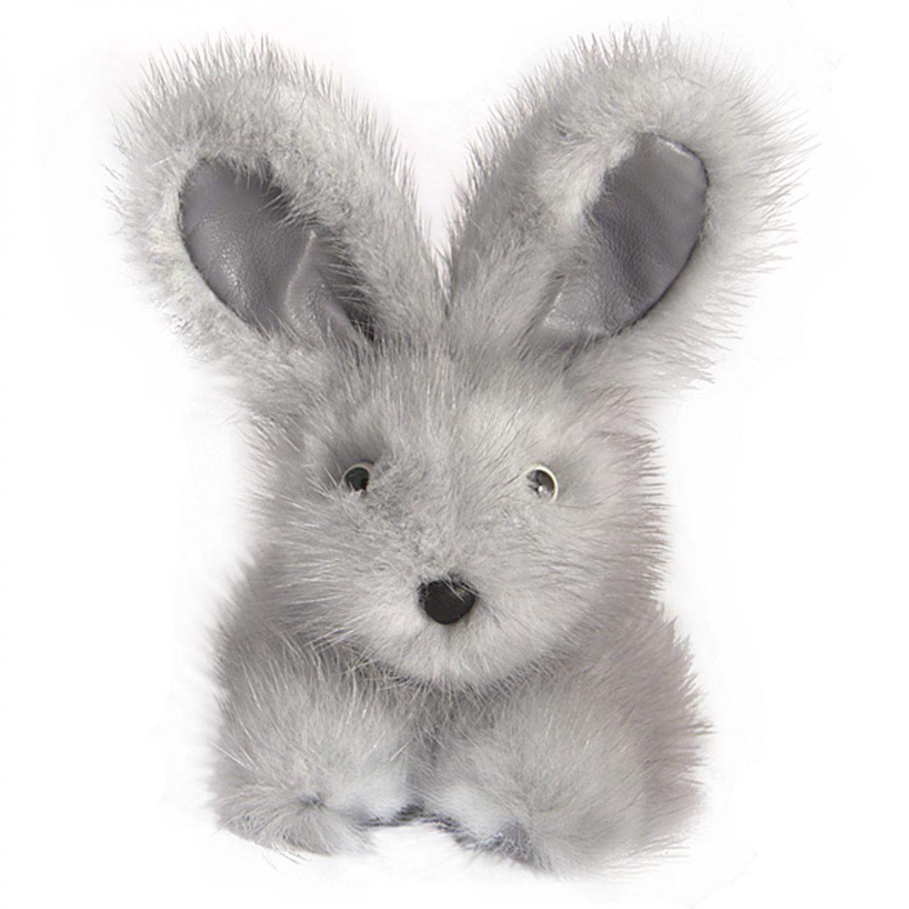 Купить Игрушка Зайчик (серый) натуральный мех норки в интернет магазине дизайнерской мебели и аксессуаров для дома и дачи