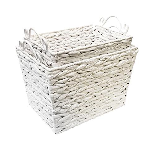 Купить Дуэт белых корзин Грасс в интернет магазине дизайнерской мебели и аксессуаров для дома и дачи