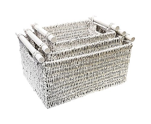 Купить Трио корзин Садовод в белом в интернет магазине дизайнерской мебели и аксессуаров для дома и дачи