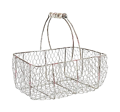 Купить Корзина металлическая Шенонсо Средняя в интернет магазине дизайнерской мебели и аксессуаров для дома и дачи