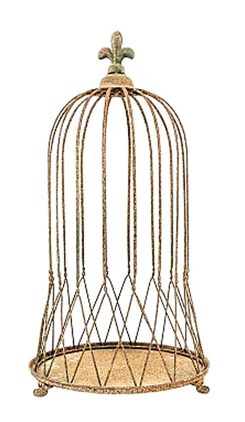 Декоративная клетка Королевская лилия  Большая, OM-PL108  Королевская лилия, венчающая купол этой  декоративной клетки, четко констатирует  древнюю французскую родословную дизайна.  Конструкция клетки