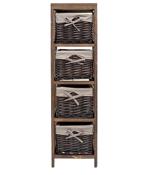Купить Стеллаж Безансон коричневый в интернет магазине дизайнерской мебели и аксессуаров для дома и дачи