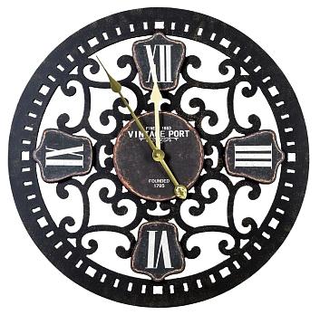 Часы настенные Гамильтон - Ночь, OM-PL156  Плавный кружевной узор часов