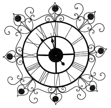 Часы настенные Франсуаза, OM-PL161  Предметы интерьера, выполненные из тонких  кружевных узоров, вселяют восторг простора  и невесомости. Прозрачный ажурный орнамент  часов