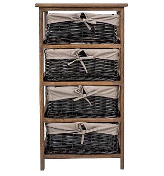 Купить Стеллаж с корзинами Дижон коричневый в интернет магазине дизайнерской мебели и аксессуаров для дома и дачи