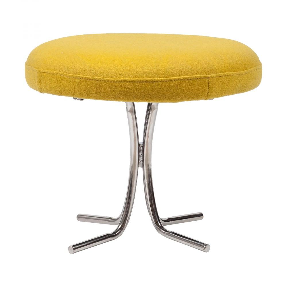 Табурет Verner Panton Желтая ШерстьТабуреты<br>Потрясающий изысканный облик дизайнерского <br>табурета Verner Panton будет невероятно выигрышно <br>выделяться на фоне интерьера любого помещения. <br>Данная модель в стиле модерн имеет сидение <br>круглой формы, выполненное из прочного <br>дерева и обтянутого высококачественной <br>шерстяной тканью жёлтого цвета, а ножки <br>— из хромированного металла серебристого <br>цвета. Утонченный и стильный, табурет Verner <br>Panton будет привлекать к себе внимание посетителей. <br>Из большого ассортимента материалов высокого <br>качества, представленного в нашем интернет-магазине, <br>вы сможете выбрать материал обивки необходимого <br>цвета для своего дизайнерского табурета <br>Verner Panton.<br><br>Цвет: Жёлтый<br>Материал: Дерево, Поролон, Металл<br>Вес кг: 10<br>Длина см: 50<br>Ширина см: 50<br>Высота см: 40