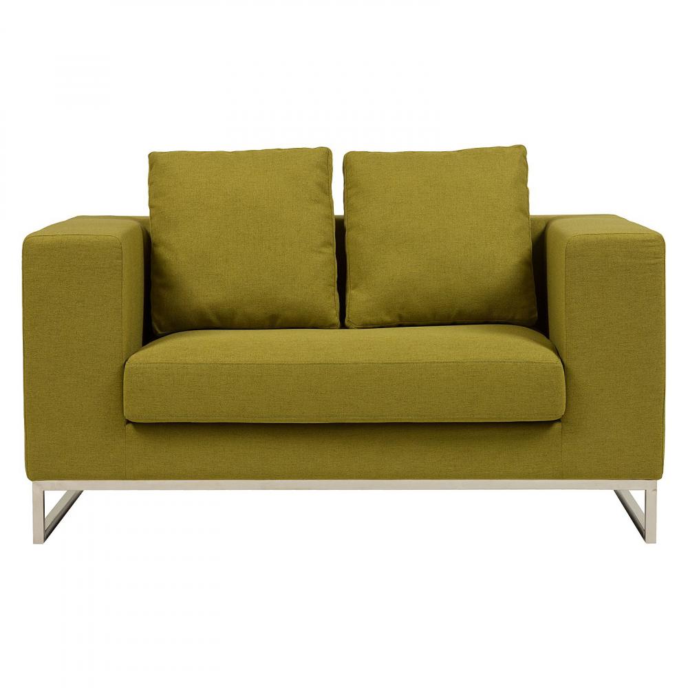 Диван Dadone ОливковыйДиваны<br>Небольшой уютный диван Dadone — это неимоверно <br>стильный и удобный предмет мебели, который <br>добавит шарма и тепла любой комнате вашего <br>дома. Благородный оливковый цвет нейлоновой <br>обивки металлического каркаса с ножками <br>из нержавеющей стали и дизайн позволяют <br>диванчику украсить собой современный или <br>классический интерьер, а мягкие подушки <br>дают вам возможность расслабиться с комфортом <br>после трудного рабочего дня.<br><br>Цвет: Зелёный<br>Материал: Ткань, Поролон, Металл<br>Вес кг: 58<br>Длина см: 134<br>Ширина см: 70<br>Высота см: 68