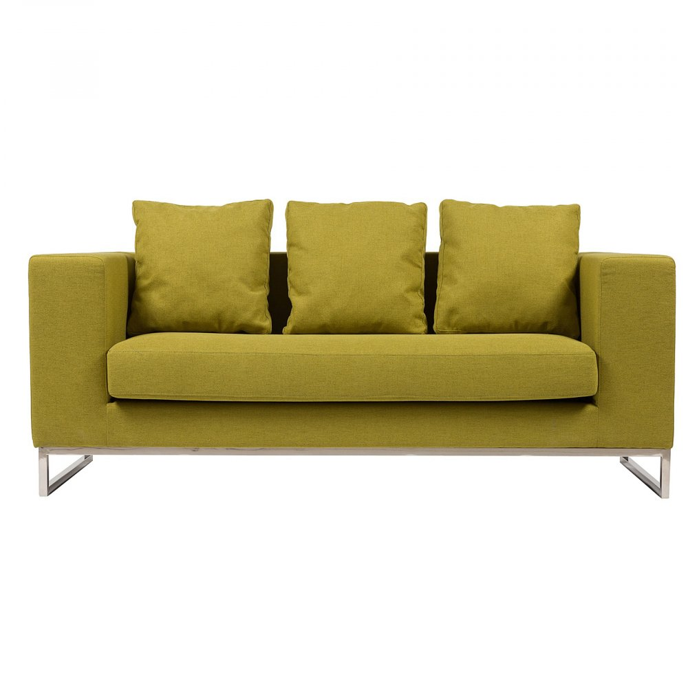 Диван Dadone Большой Оливковый, DG-F-SF-317-4  Ничто не сможет лучше помочь в создании  уюта дома, чем удобный диван. Уютный диван  Dadone — это невероятно комфортный, модный  и довольно стильный от известного итальянского  дизайнера Антонио Читтерио (Antonio Citterio). Он  прибавит необычного шарма и внесет особую  теплоту вашему интерьеру. Обивка дивана  благородного оливкового цвета — находка  дизайнеров, она дает возможность вписаться  в современный интерьер и классический.  Основание, оно же ножки, изготовлено из  нержавеющей стали в виде прочной стальной  рамы. Большие мягкие подушки делают данную  модель еще более оригинальной. Обивка из  нейлона и дизайн позволяют дивану украсить  собой современный или классический интерьер,  а мягкие подушки дают вам возможность расслабиться  с комфортом после трудного рабочего дня.  Выберите в нашем магазине высококачественную  реплику дивана из коллекции Dadone для комнаты  в современном городском стиле: лофт, минимализм,  хай-тек.