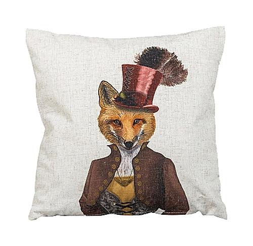 Купить Декоративная подушка Мисс Лиса в интернет магазине дизайнерской мебели и аксессуаров для дома и дачи