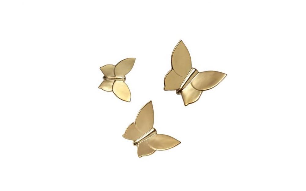 Декоративная бабочка Butterly (золотая)