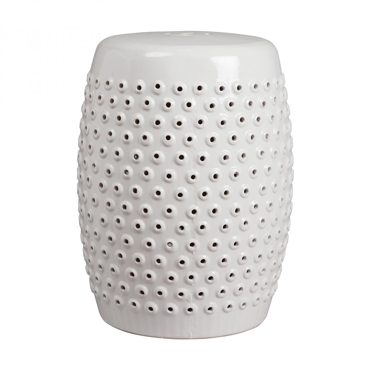 Купить Керамический столик-табурет Cutwork Garden Stool Белый в интернет магазине дизайнерской мебели и аксессуаров для дома и дачи