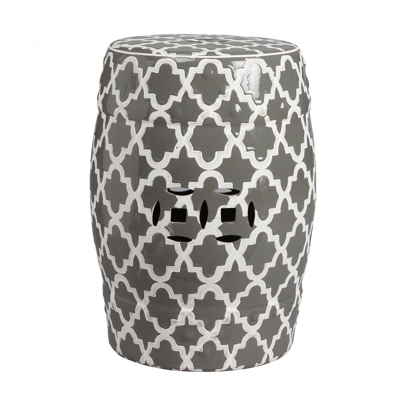 Купить Керамический столик-табурет Istanbul Stool Серый в интернет магазине дизайнерской мебели и аксессуаров для дома и дачи