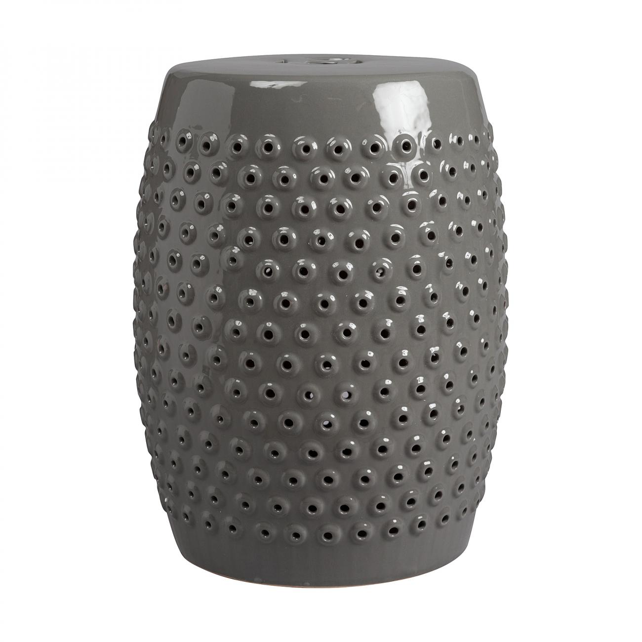 Купить Керамический столик-табурет Cutwork Garden Stool Серый в интернет магазине дизайнерской мебели и аксессуаров для дома и дачи