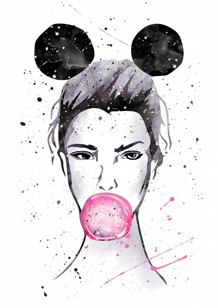 Купить Постер Девушка маус А3 в интернет магазине дизайнерской мебели и аксессуаров для дома и дачи