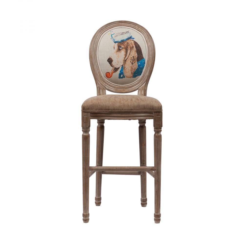Барный стул Sailor Dog DG-HOME Барный стул Sailor Dog в классическом стиле  в обивке из экокожи бежевого цвета. Фигурные  ножки украшены резьбой, выполненной вручную.  Ножки и каркас изготовлены из древесины  берёзы с завершающей белой винтажной отделкой.  Высота стула от пола до сидения 76 см.Этот  великолепный стул Sailor Dog — воплощение французской  элегантной сдержанности — выглядит гораздо  дороже, чем на самом деле. Понравился? Купите  стул Sailor Dog в нашем интернет-магазине —  он займет достойное место в вашем интерьере.
