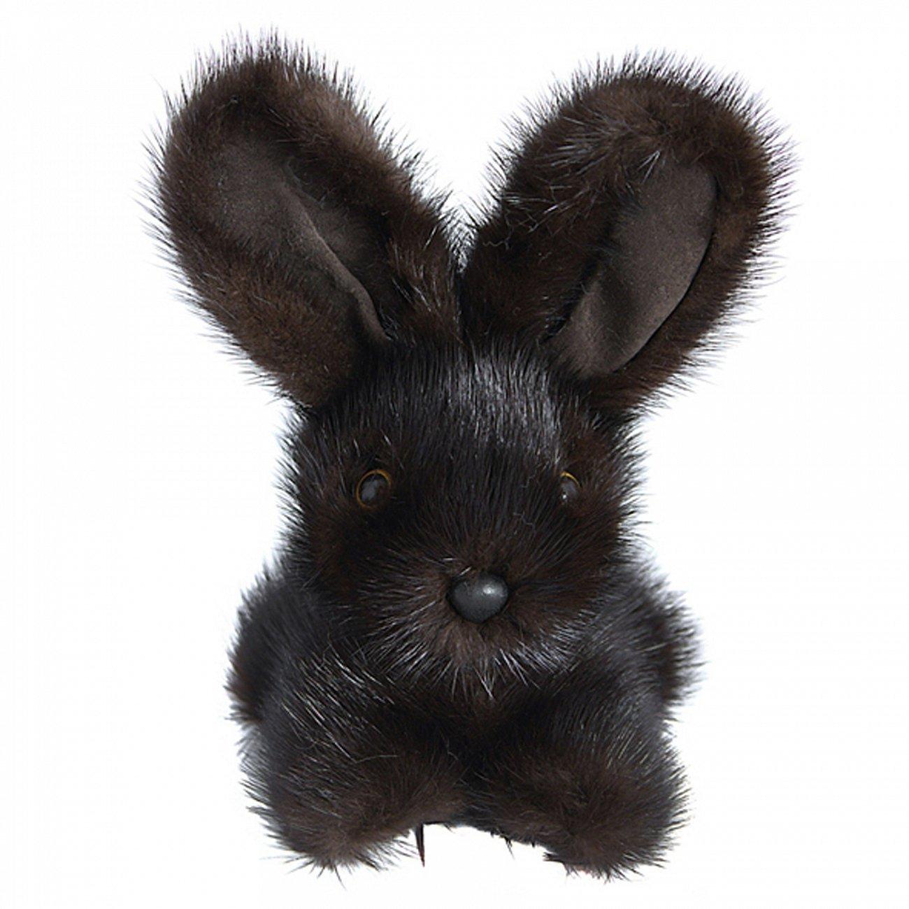 Купить Игрушка Зайчик (темно-коричневый) натуральный мех норки в интернет магазине дизайнерской мебели и аксессуаров для дома и дачи