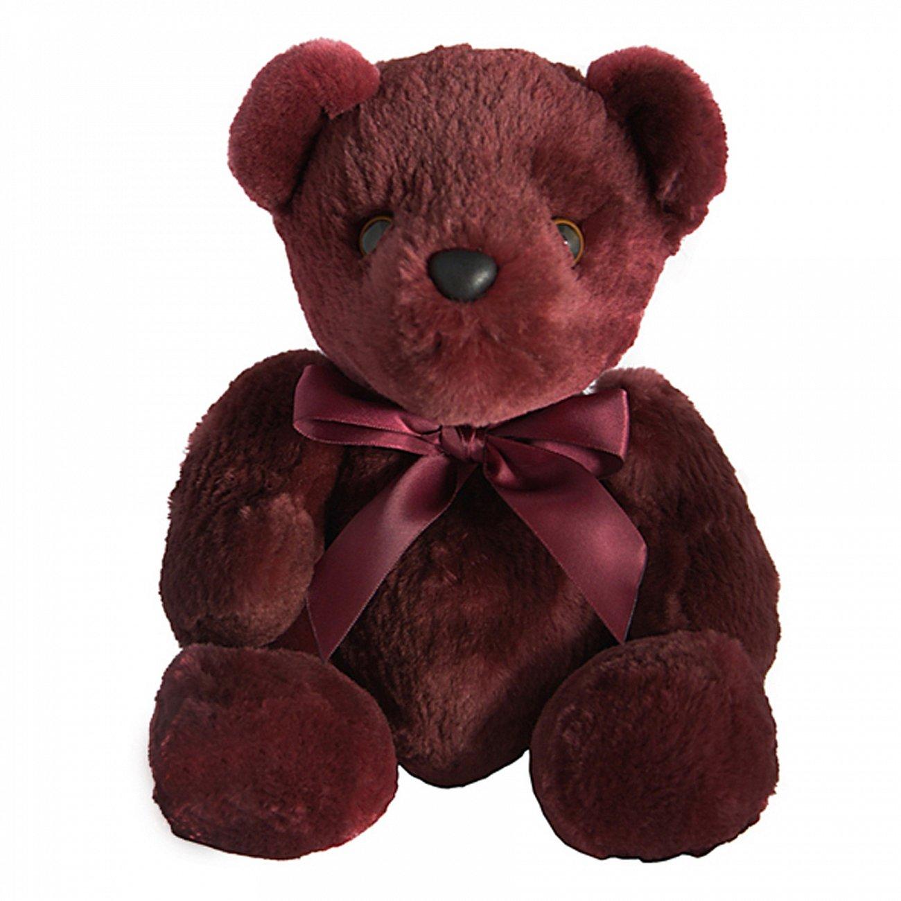 Купить Игрушка Медвежонок с бантом (фиолетовый) натуральный мех бобра в интернет магазине дизайнерской мебели и аксессуаров для дома и дачи