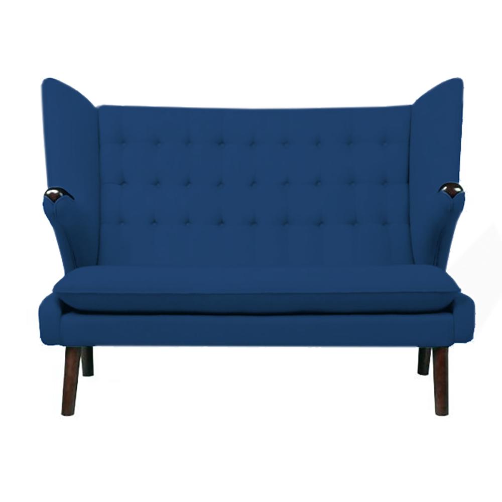 Диван Papa Bear (синий), DG-F-SF309-5  Диван Papa Bear Sofa — изысканный предмет мебели  на высоких деревянных ножках, который поможет  не только украсить любую комнату или кабинет,  но и ограничить зону отдыха от общего пространства.  Прочный деревянный каркас на деревянных  ножках, превосходный синий цвет обивки  позволяет диванчику удачно сочетаться  с общей картиной помещения. Papa Bear Sofa добавит  дому уюта, тепла и прекрасно впишется как  в классический, так и в современный интерьер.