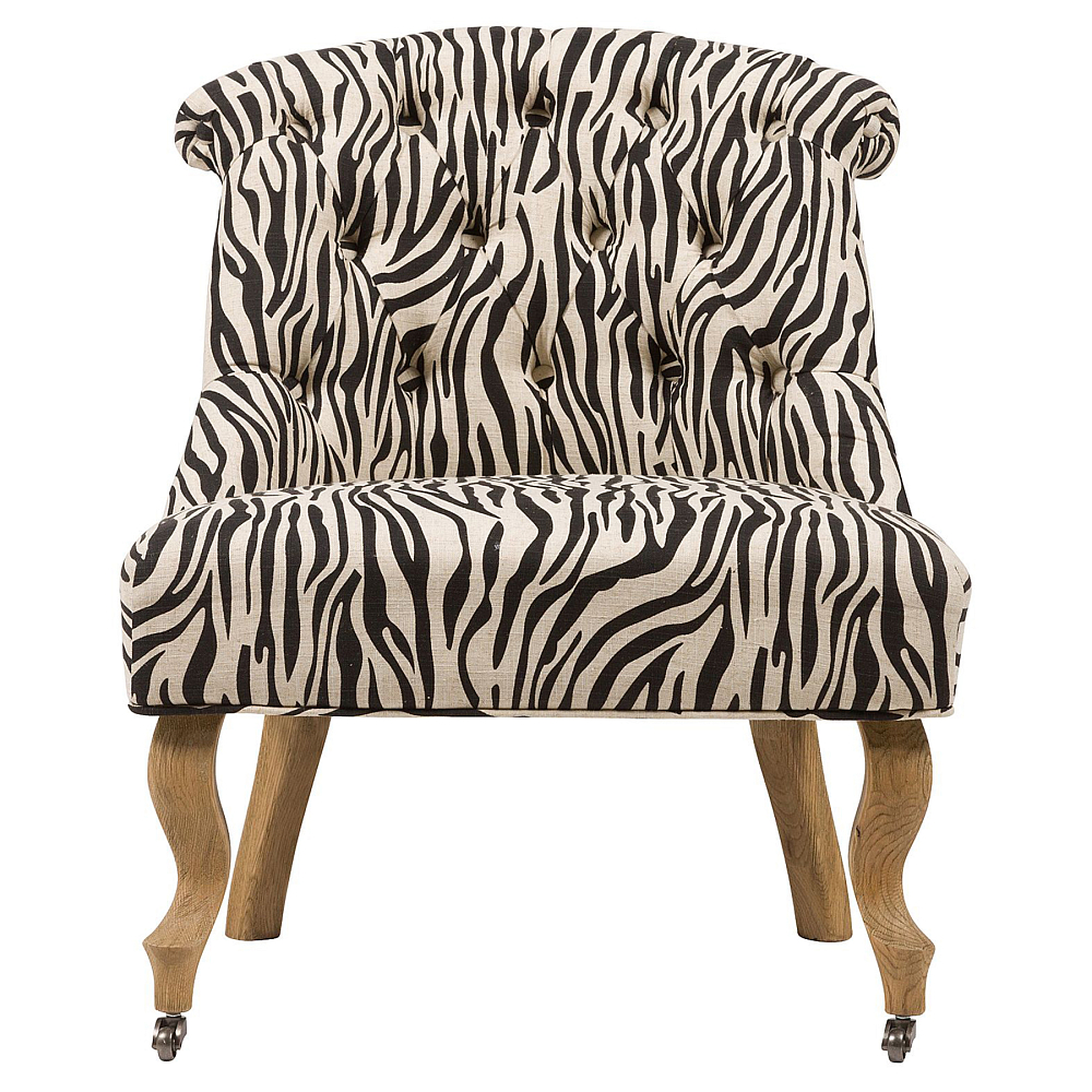 Кресло Amelie French Country Chair Зебра, DG-F-ACH496-2
