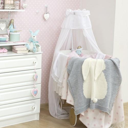 Купить Плед серый Зайка большой в интернет магазине дизайнерской мебели и аксессуаров для дома и дачи