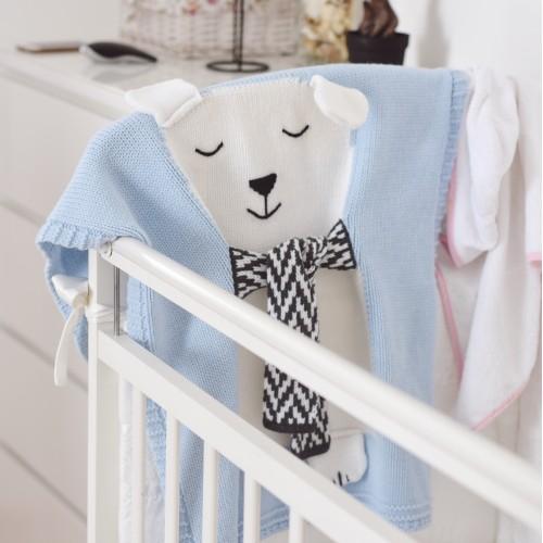 Купить Плед голубой Мишка большой в интернет магазине дизайнерской мебели и аксессуаров для дома и дачи