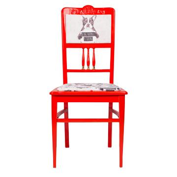 Стул Быть нормальным скучно, NR-F-CH01  Антикварный стул в стиле ампир. Возраст  около 100 лет. Дизайн коллажей на основе принтов  Балажа Шолти (Balazs Solti). Ручная роспись/ Реставрация.