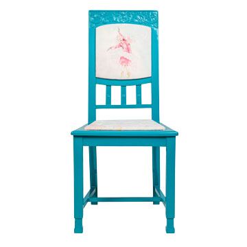 Стул Dancing queen, NR-F-CH03  Антикварный стул в стиле ампир. Возраст  около 100 лет. Дизайн коллажей на основе принтов  Балажа Шолти (Balazs Solti). Ручная роспись/ Реставрация.