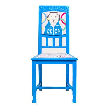 Стул СССР, NR-F-CH04  Антикварный стул в стиле ампир. Возраст  около 100 лет. Дизайн коллажей на основе принтов  Балажа Шолти (Balazs Solti). Ручная роспись/ Реставрация.