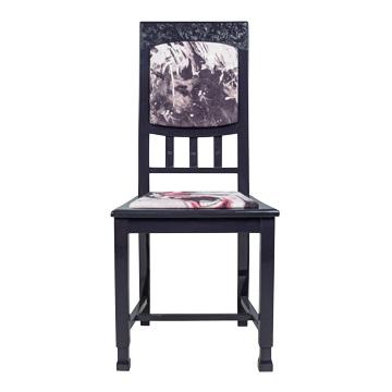 Стул Джокер, NR-F-CH05  Антикварный стул в стиле ампир. Возраст  около 100 лет. Дизайн коллажей на основе принтов  Балажа Шолти (Balazs Solti). Ручная роспись/ Реставрация.