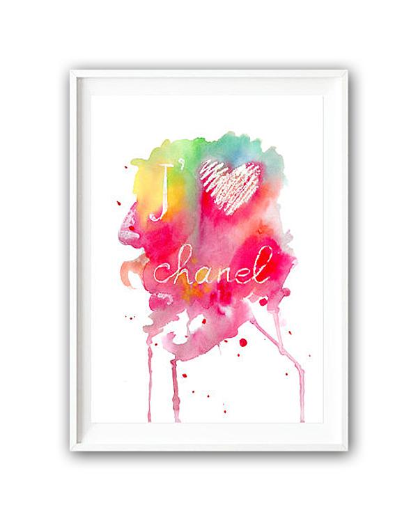 Постер Люблю Шанель А4
