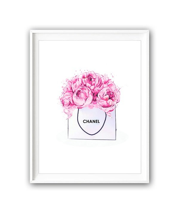 Постер Chanel art А4