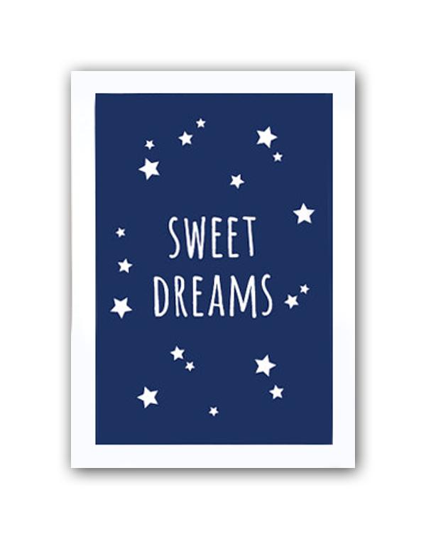 Купить Постер Sweet dreams boys А4 в интернет магазине дизайнерской мебели и аксессуаров для дома и дачи