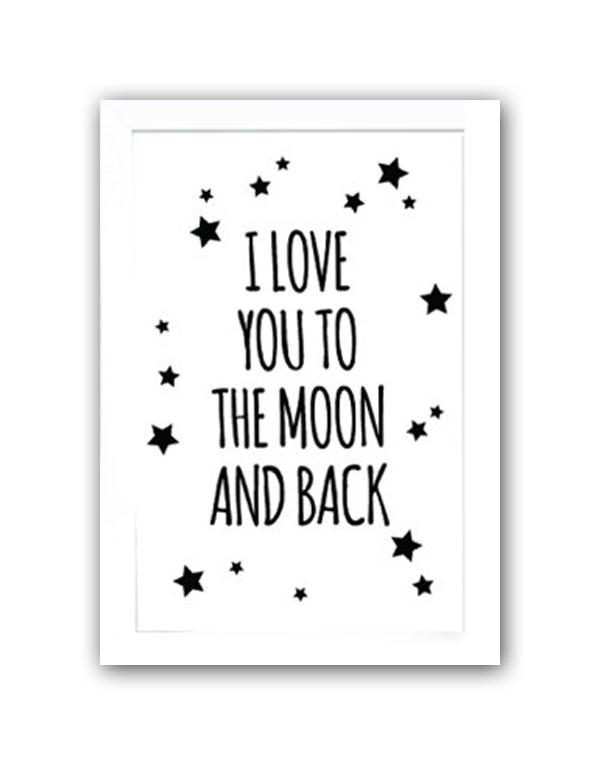Фото Постер To the white moon and back А3. Купить с доставкой