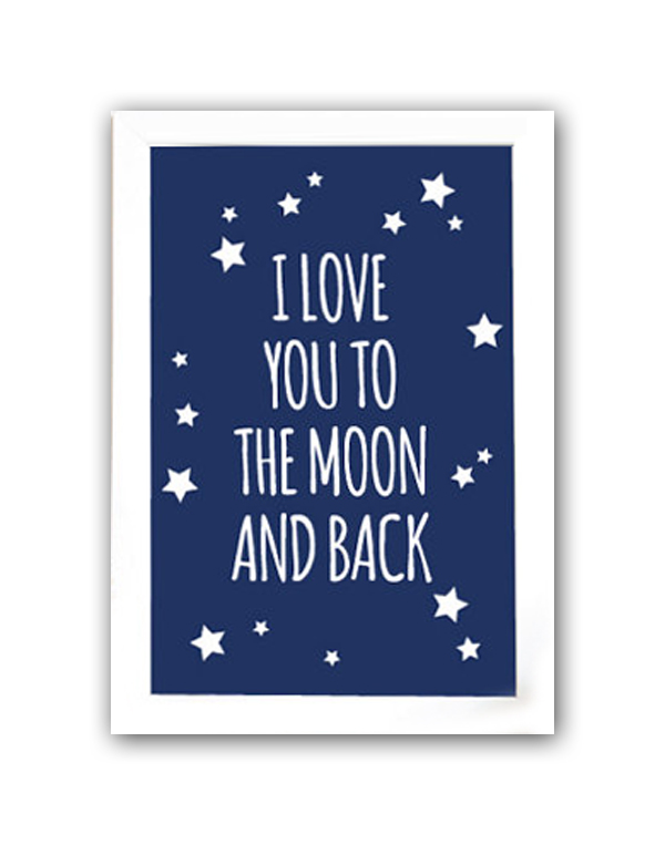 Постер To the blue moon and back А3