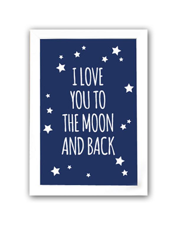 Постер To the blue moon and back А3, DG-D-PR475