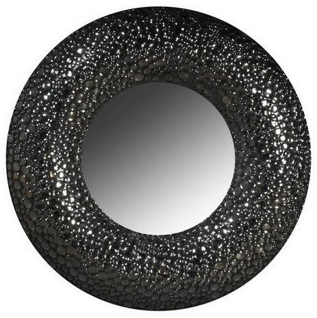 Зеркало Black Pearl / HA09111 (Black Pearl), 00417  В этом зеркале дизайнеры искусно совместили  отголоски глянцевого гламура, сдержанную  роскошь вечно актуального Ар-Деко и современные  модные тенденции – мягкую геометрию, облаченную  в ненавязчивый блеск. Вы можете окружить  Black Pearl мебелью и аксессуарами на свой вкус  – позолоченным барокко или строгим минимализмом  – такая деталь гармонично вольется в любой  предложенный стиль.