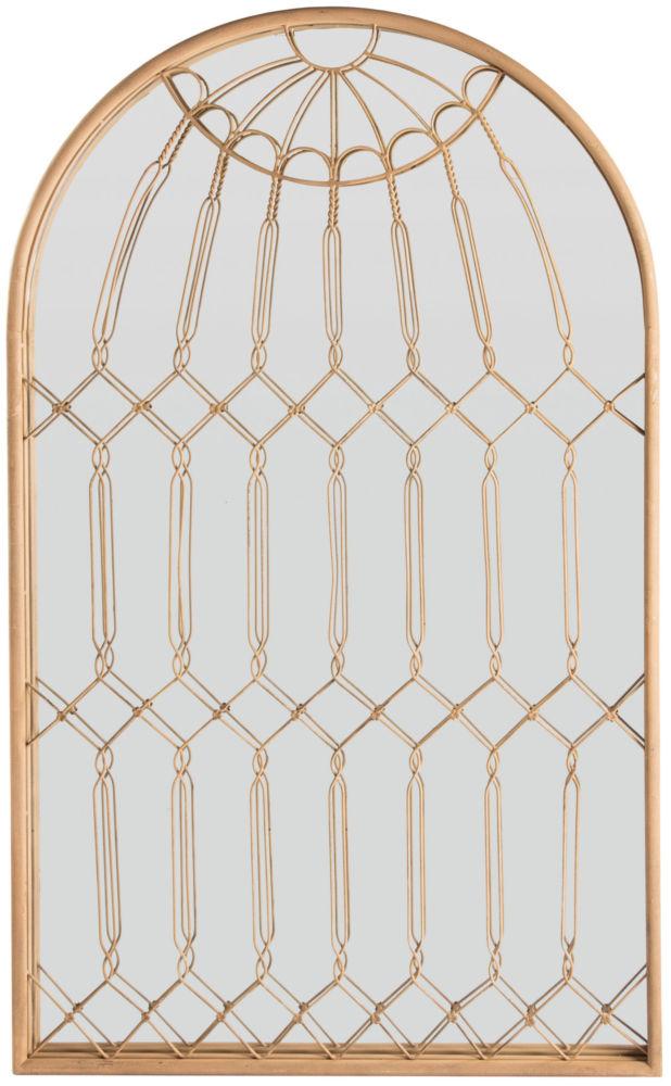 Зеркало Tower Window / DE5302 (Tower Window), 02746  Если Вы следите за последними трендами  в мире интерьеров и любите наполнять свой  дом дизайнерскими вещицами, зеркало Tower  Window может дополнить Вашу коллекцию модных  аксессуаров. Искусно вплетенная в романское  окно медная проволока создаст легкость  и воздушность в пространстве, а само зеркало  подарит комнате дополнительный объем.