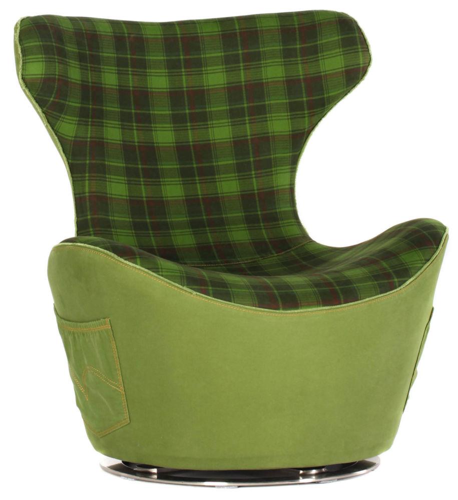 Кресло HE335/Green Grid Jeans (Без модели), 00159