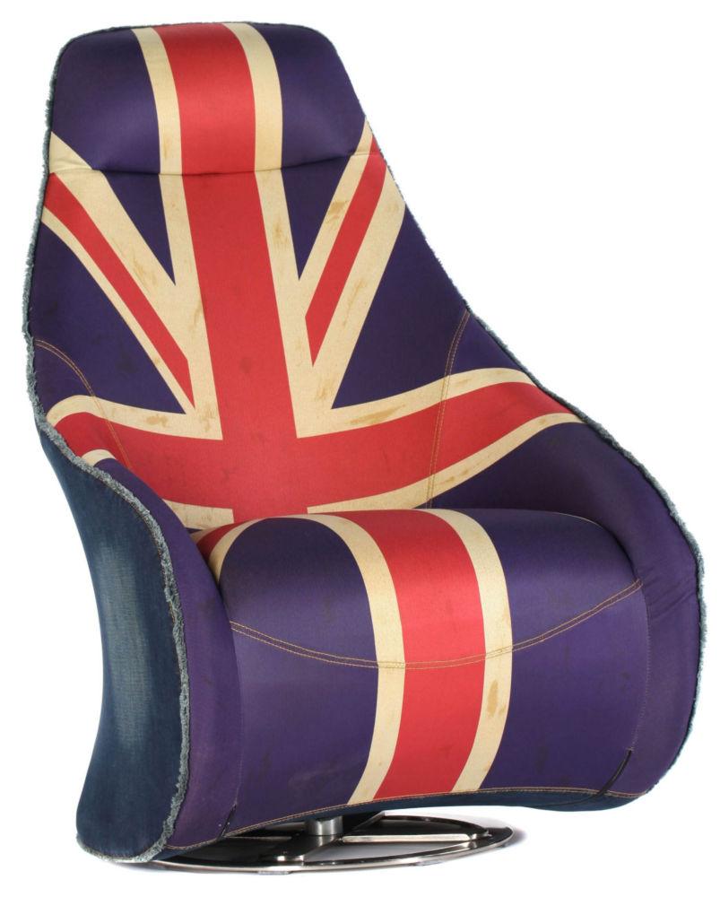 Кресло Deep Rotation / UK Flag / HE359 (Deep Rotation), 00170