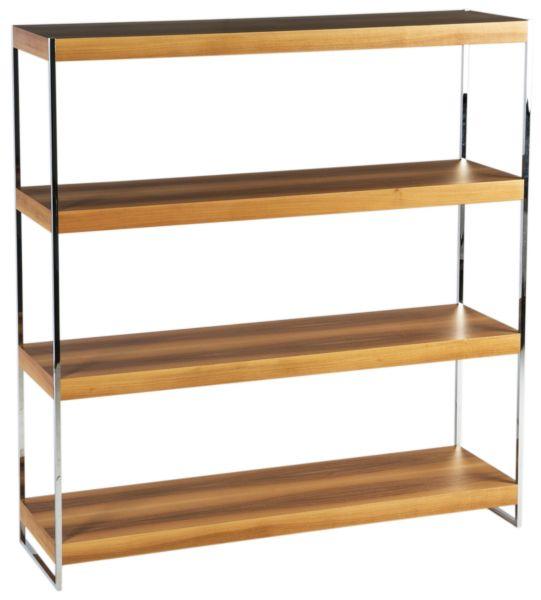 Купить Стеллаж 200215 Walnut\Chromed Metal MORGAN в интернет магазине дизайнерской мебели и аксессуаров для дома и дачи