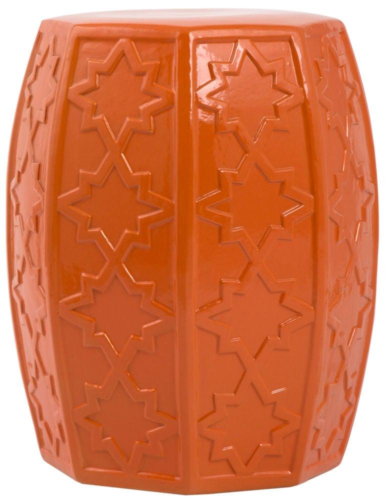 Купить Керамический столик-табурет Garden Stool Оранжевый в интернет магазине дизайнерской мебели и аксессуаров для дома и дачи