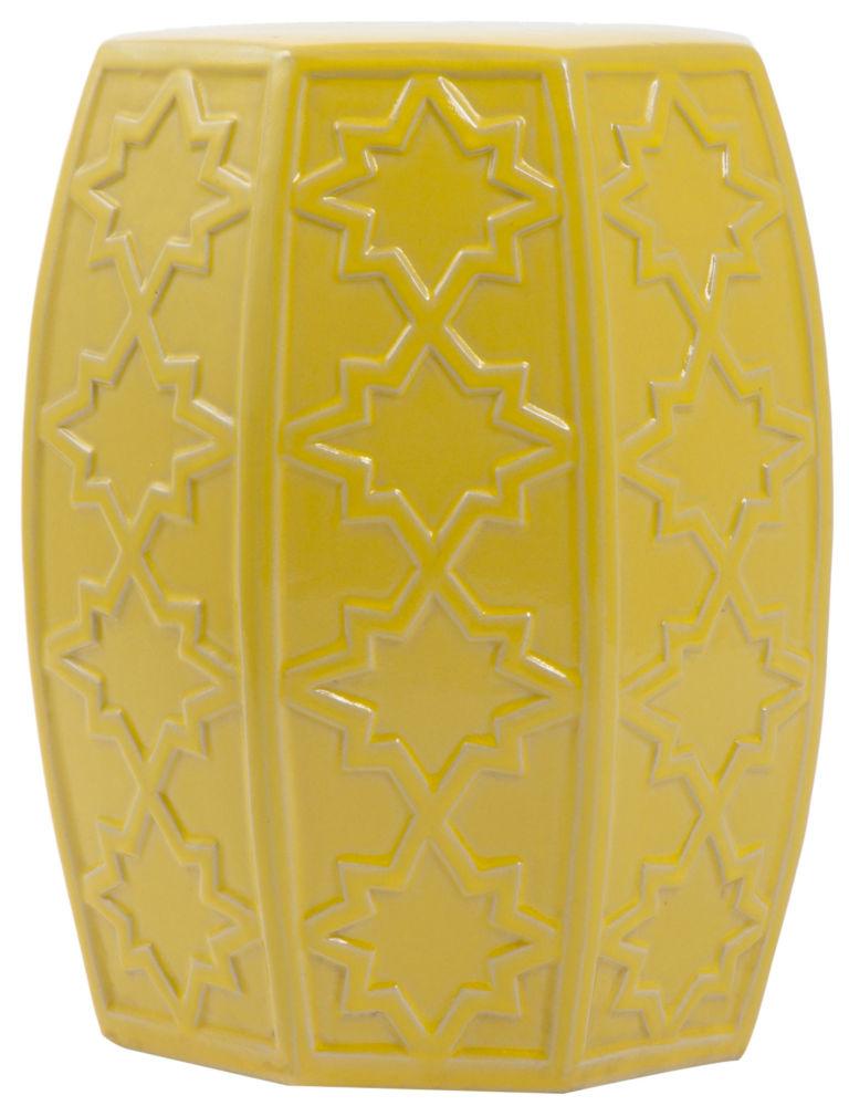 Купить Керамический столик-табурет Garden Stool Желтый в интернет магазине дизайнерской мебели и аксессуаров для дома и дачи