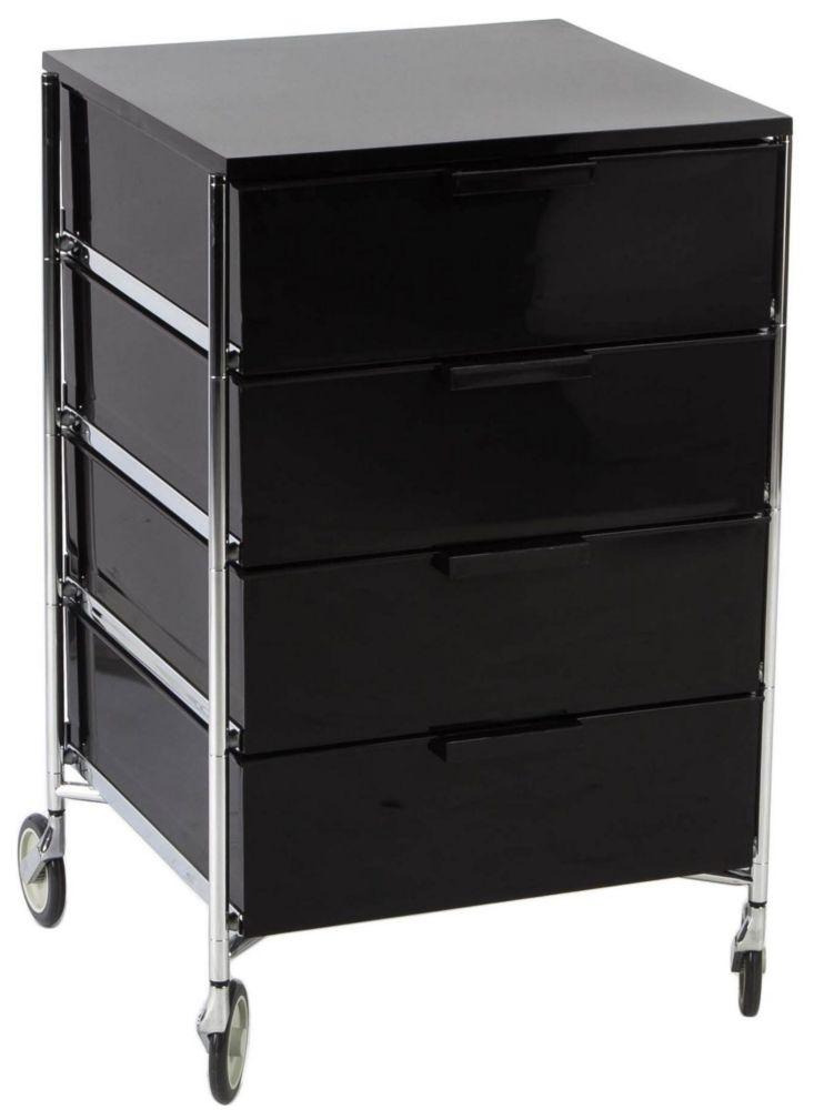 Купить Тумба на колесиках Mobil - Smoke glossy / L2024 (Mobil) в интернет магазине дизайнерской мебели и аксессуаров для дома и дачи