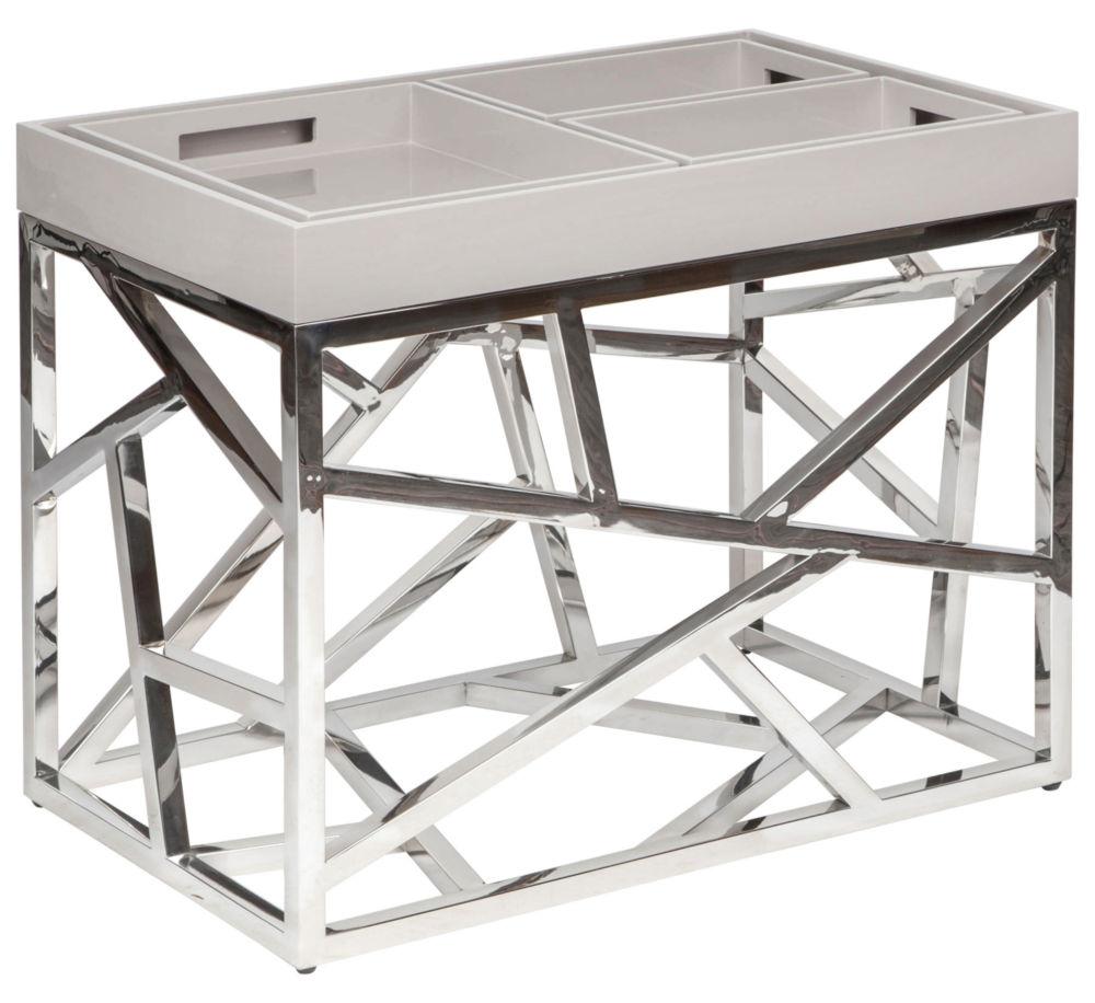 Стол журнальный Fittings / HF14009-1 (Fittings), 06589Кофейные и журнальные столы<br>Элементы конструктивизма вот уже полвека <br>не оставляют умы дизайнеров. Они придумывают <br>моднейшие модели, сочетая сплетение хаотичных <br>и строгих металлических линий с новейшими <br>материалами и деревом. Этот стол – великолепный <br>представитель современного мебельного <br>искусства – будет ярким украшением гостиной. <br>Какой бы мебелью Вы ни решили окружить Fittings, <br>он (она) гармонично подстроится и внесет <br>в интерьер нотку постмодерна.<br><br>Цвет: None<br>Материал: None<br>Вес кг: None