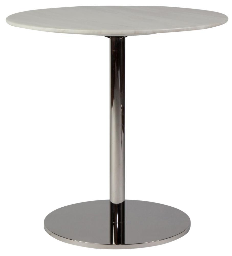 Стол журнальный Windy - White / GCT 6623 (Windy), 03617  Ничего лишнего, только мрамор и сталь. И,  конечно, идеальная лаконичная форма. Каменная  столешница – гениальное изобретение дизайнеров,  позволяющее сохранить вашу любимую мебель  в первозданном виде надолго. Такому столу  не страшны горячие чашки и необузданные  гости – он стерпит все, не теряя со временем  своей красоты и благородства.
