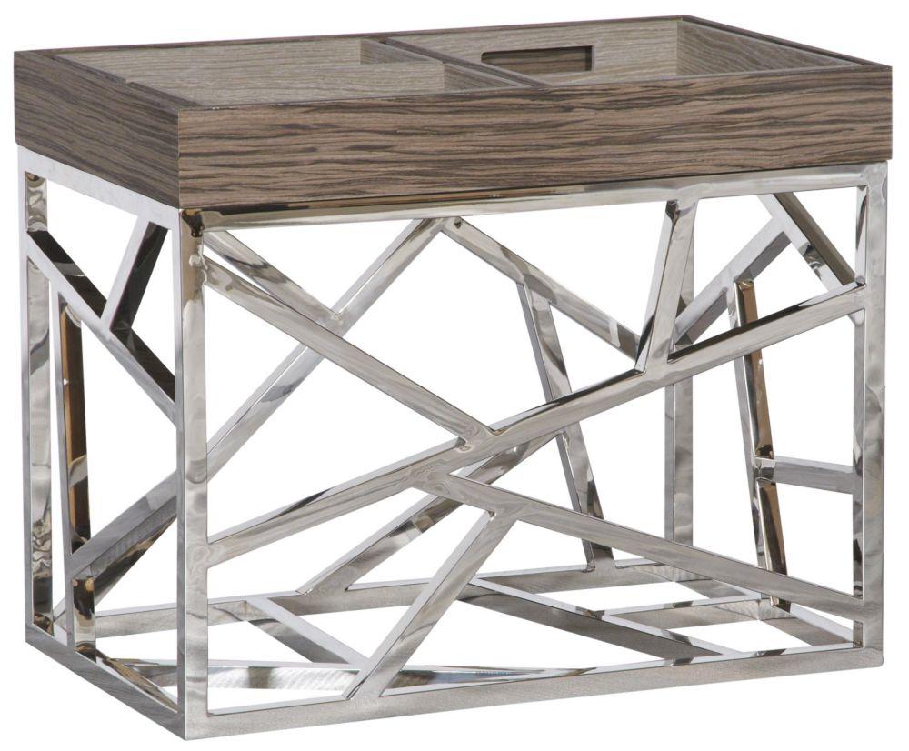 Стол журнальный Fittings / HF14009 (Fittings), 04040  Элементы конструктивизма вот уже полвека  не оставляют умы дизайнеров. Они придумывают  моднейшие модели, сочетая сплетение хаотичных  и строгих металлических линий с новейшими  материалами и деревом. Этот стол – великолепный  представитель современного мебельного  искусства – будет ярким украшением гостиной.  Какой бы мебелью Вы ни решили окружить Fittings,  он (она) гармонично подстроится и внесет  в интерьер нотку постмодерна.