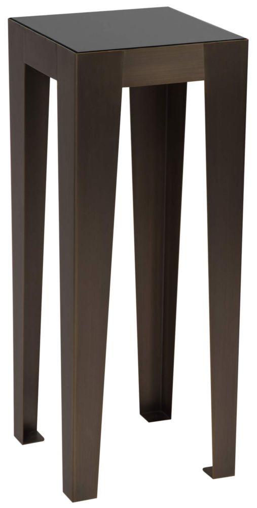 Купить Консоль Hermes black glass 40 см в интернет магазине дизайнерской мебели и аксессуаров для дома и дачи