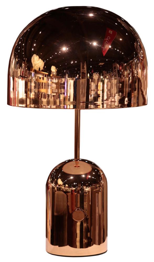 Лампа настольная / BELL / GOLD-400 (BELL), 03406  Зеркальная полусфера цвета гематита или  красного золота слегка искажает отражаемое  пространство, делая его похожим на инопланетный  мегаполис. Если Вы не против добавить в  свой интерьер немного гламура, облаченного  в благородную форму, настольная лампа Mars  & Venus будет смелым решением, о котором Вы  вряд ли пожалеете.